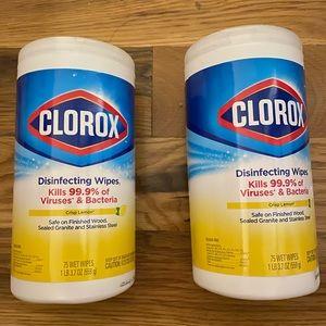 - Clorox wipes set